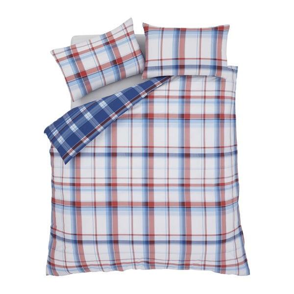 Obliečky St. Ives Check Blue, 220x230 cm