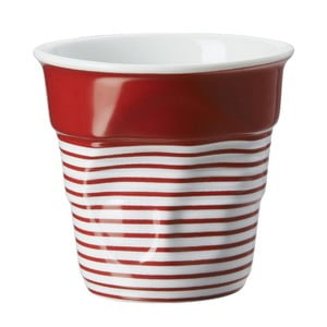 Pohárik na cappuccino Froisses 18 cl, červeno-biely