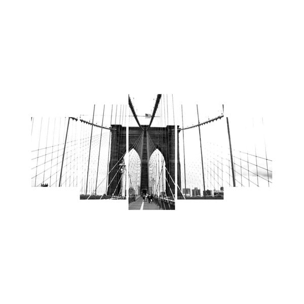 Viacdielny obraz Black&White no. 50, 100x50 cm
