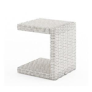 Biely záhradný príručný stolík Oltre Romeo
