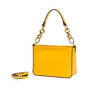 Žltá kabelka z pravej kože Andrea Cardone Alberto