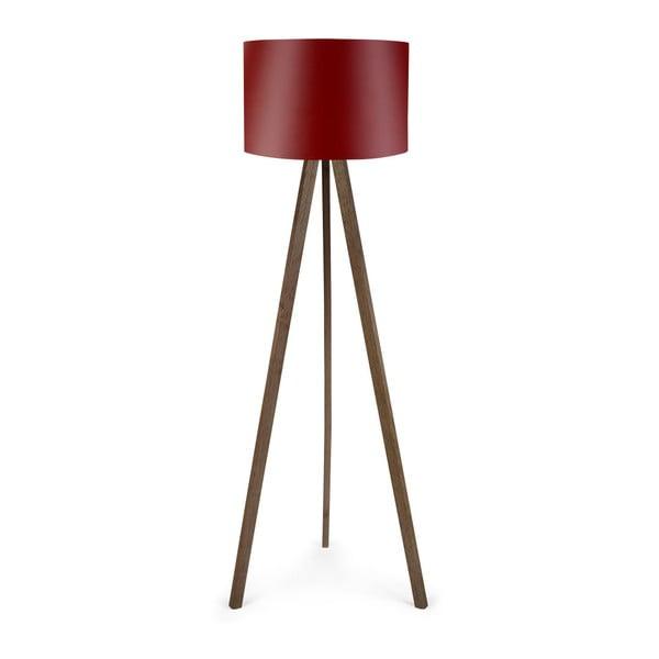 Voľne stojacia lampa s červeným tienidlom Eivo