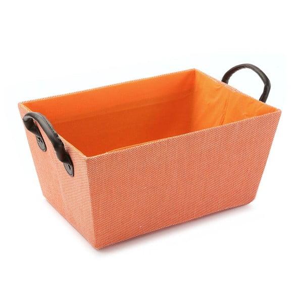 Oranžový košík s úchytkami Versa Orange Handle, 30 x 25 cm