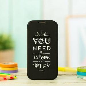 Čierny obal na Samsung Galaxy S4 Mr. wonderful Love