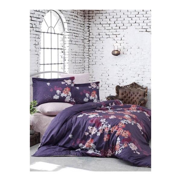 Obliečky s plachtou z bavlneného saténu na dvojlôžko Chery, 200 x 220 cm