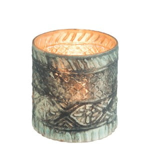 Sklenený svietnik J-Line Boho Cylinder, ⌀ 10 cm