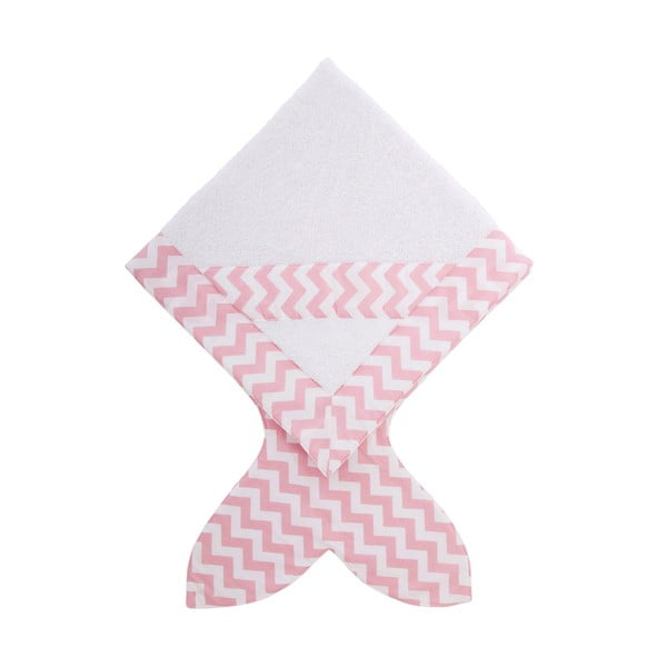Detský uterák Baby Bites Fish Pink,80x80cm
