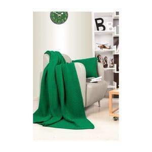 Set zeleného plédu a vankúša Kate Louise Tricot Blanket Set Hanzade