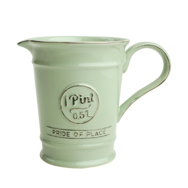 Zelený porcelánový džbánik T&G Woodware Pride of Place, 500 ml