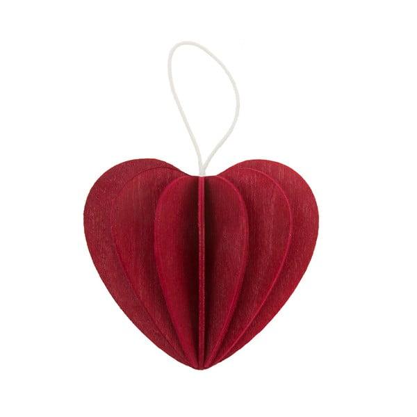 Skladacia pohľadnica Heart Bright Red, 6.8 cm