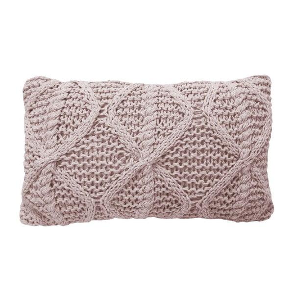 Ružový pletený vankúš OVERSEAS Diamond, 30x50cm