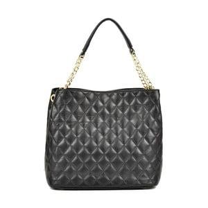 Čierna kožená kabelka Anna Luchini Foolio