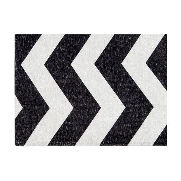 Vysokoodolný kuchynský koberec Webtappeti Optical Black White, 60×150cm