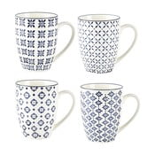 Sada 4 hrnčekov Villa Collection Pattern Classic, 350 ml