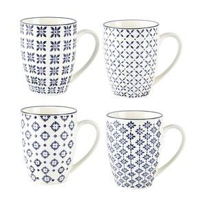 Sada 4 hrnčekov Villa Collection Pattern Classic, 350ml