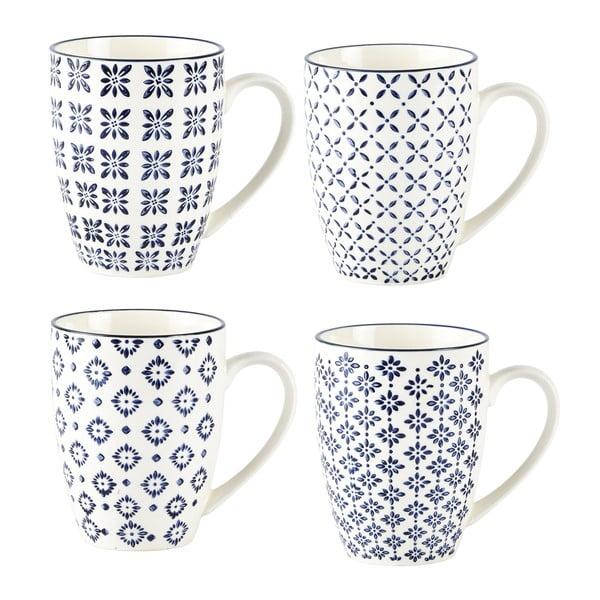 Sada 4 hrnčekov Villa Collection Pattern Classic, 350 ml