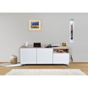 Úložná komoda Decoflex Floor, biela/samba