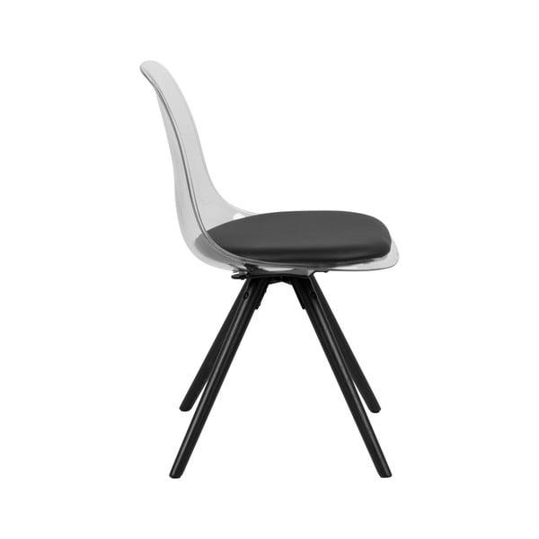 Čierna jedálenská stolička s podnožím z dubového dreva Actona Henning