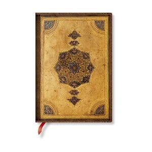 Zápisník s mäkkou väzbou Paperblanks Safavid, 13 x 18 cm