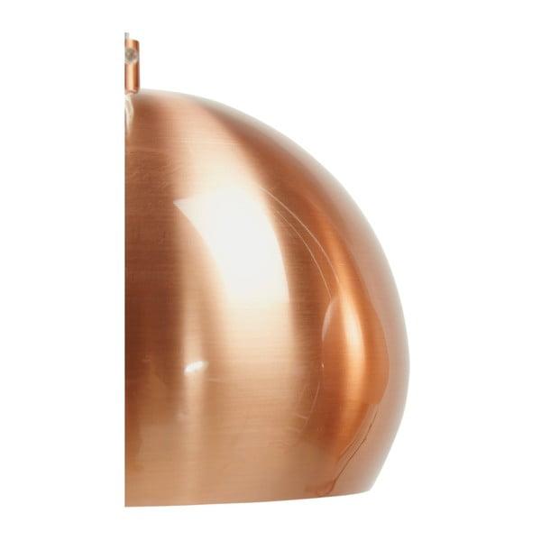 Trojité závesné svietidlo v medenej farbe Kokoon Trika