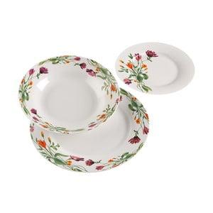 18-dielna sada procelánových tanierov s dekoratívnym motívom VERSA Florian