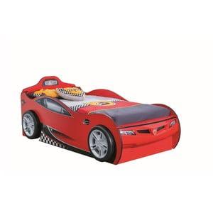 Červená detská posteľ v tvare auta s úložným priestorom Race Cup Carbed With Friend Bed Red, 90 × 190 cm