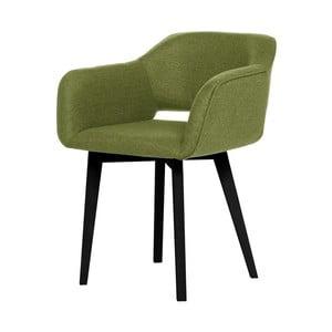 Zelená jedálenská stolička s čiernymi nohami My Pop Design Oldenburg