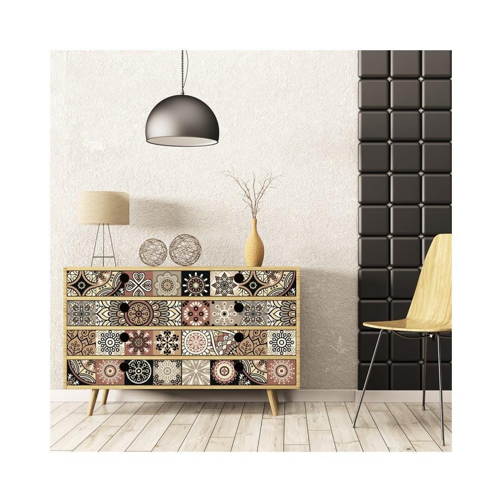 Sada 30 samolepiek na nábytok Ambiance Tiles Stickers For Furniture Cineloto Mento, 15 × 15 cm