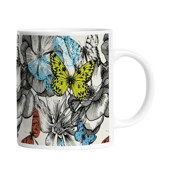 Keramický hrnček Beautiful Butterflies, 330 ml
