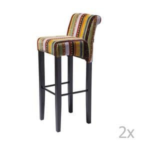 Sada 2 barových stoličiek s podnožou z bukového dreva Kare Design British