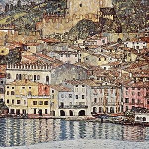 Reprodukcia obrazu Gustav Klimt - Malcesine on Lake Garda, 60x60cm