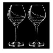 Sada 2 pohárov na víno Selene so Swarovski Elements v luxusnom balení