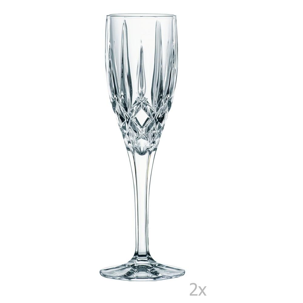 Sada 2 pohárov na prípitok z krištáľového skla Nachtmann Noblesse, 160 ml