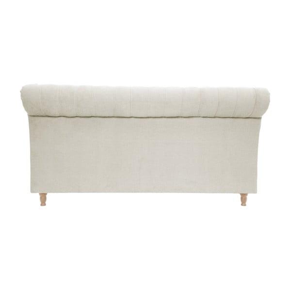 Krémová posteľ s prírodnými nohami Vivonita Allon, 180 x 200 cm
