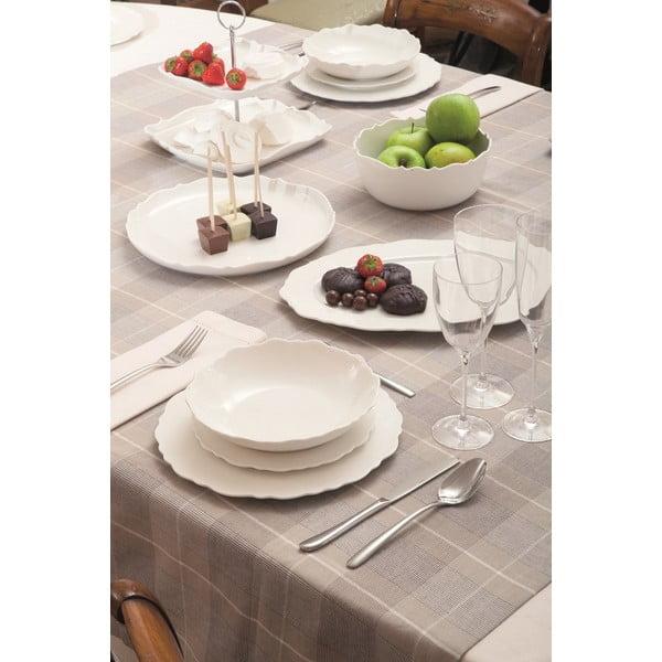 Oválny tanier Butterfly Bianco