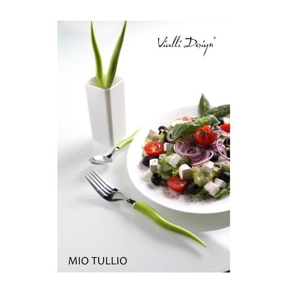 Sada príboru Mio Tullio 5 ks, zelená/biela