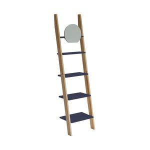 Tmavosivá oporná polica so zrkadlom Ragaba Ashme Ladder