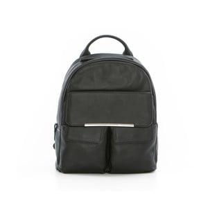 Čierny kožený batoh Gianni Conti Petrina