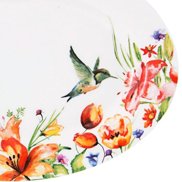 Farebný tanier Krauff Colibri Oval, 30,6cm