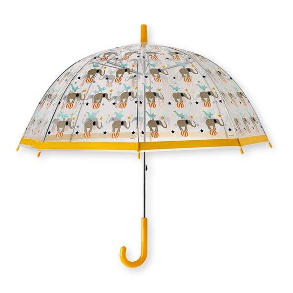 Žltý transparentný detský dáždnik Jopo