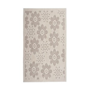 Krémový bavlnený koberec Floorist Randa, 80x300cm
