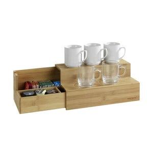 Bambusový stojan na príslušenstvo ku káve a čaju Wenko