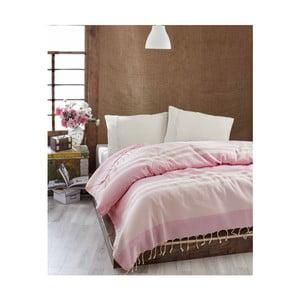 Ľahká prikrývka cez posteľ Hereke Pink, 200x235 cm