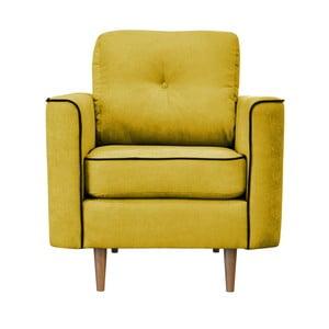 Žlté kreslo Mazzini Sofas Butterfly, svetlé nohy