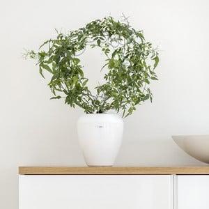 Biely samozavlažovací kvetináč Plastia Calimera A1, ø 17 cm