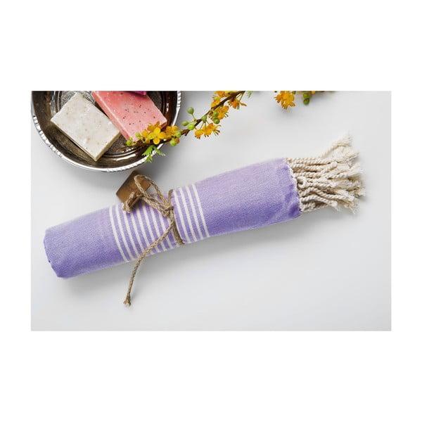 Hamam osuška Line Lilac, 100x180 cm