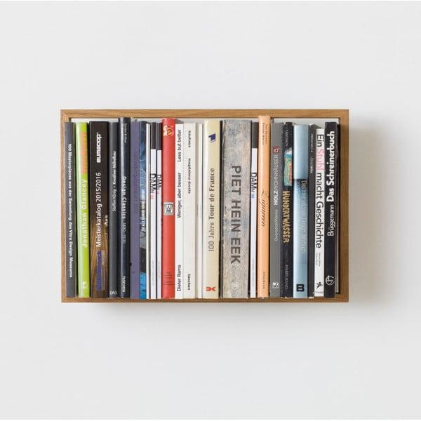 Polica na knihy z dubového dreva das kleine b b8, výška 34cm