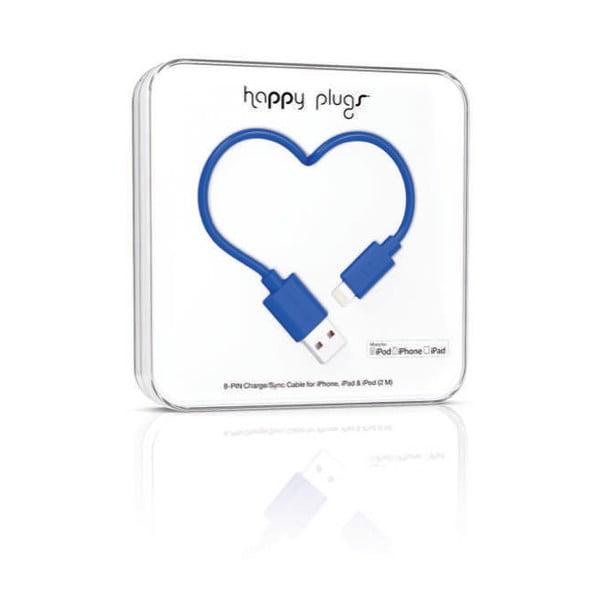 Kobaltový Happy Plugs nabíjací a dátový kábel, 2 metre