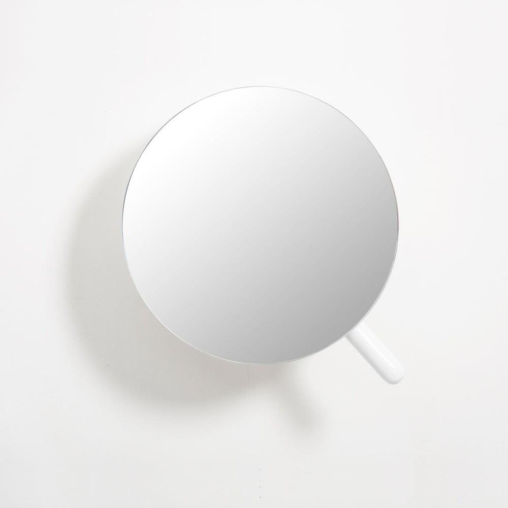 Biele nástenné kozmetické zväčšovacie zrkadlo Wireworks Neutrino Gloss