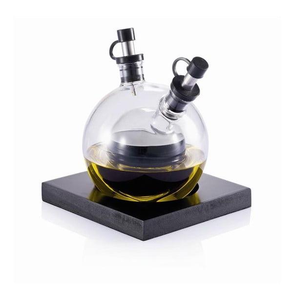 Sada na olej a ocot z ručne fúkaného skla s podnosom XD Design Orbit